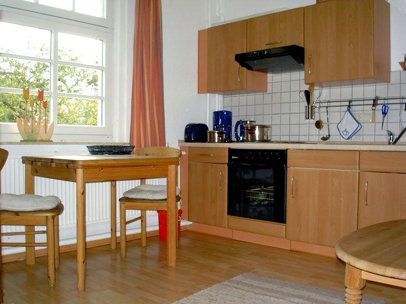 Küche in der Ferienwohnung 1 - Landhaus Dittmann auf Hiddensee