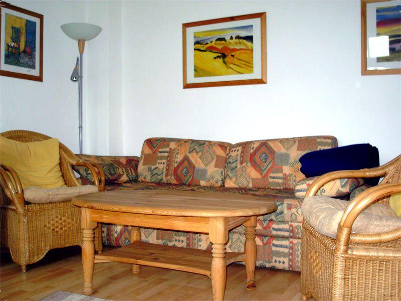 Sofa in der Ferienwohnung 1 - Landhaus Dittmann auf Hiddensee