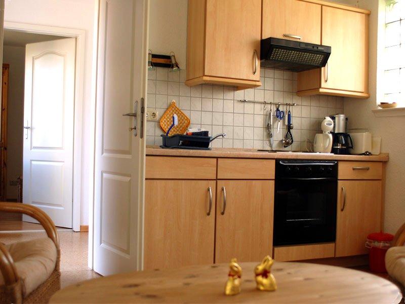 Küche der Ferienwohnung 2 - Landhaus Dittmann auf Hiddensee