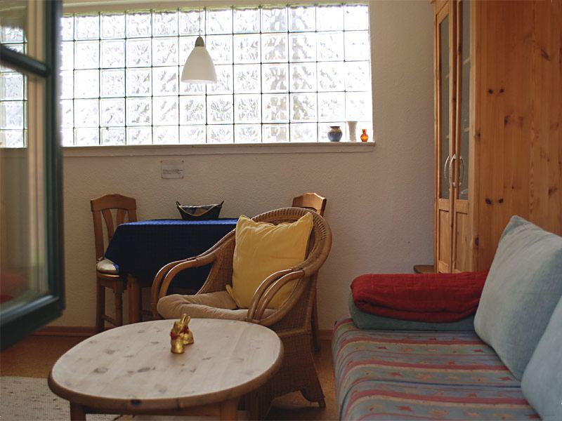 Wohnzimmer der Ferienwohnung 2 - Landhaus Dittmann auf Hiddensee