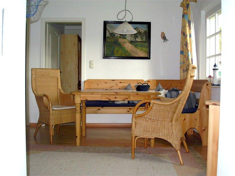 Essecke der Ferienwohnung 3 - Landhaus Dittmann auf Hiddensee