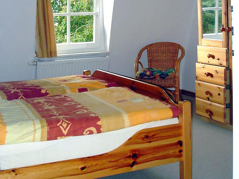 Schlafzimmer der Ferienwohnung 3 - Landhaus Dittmann auf Hiddensee