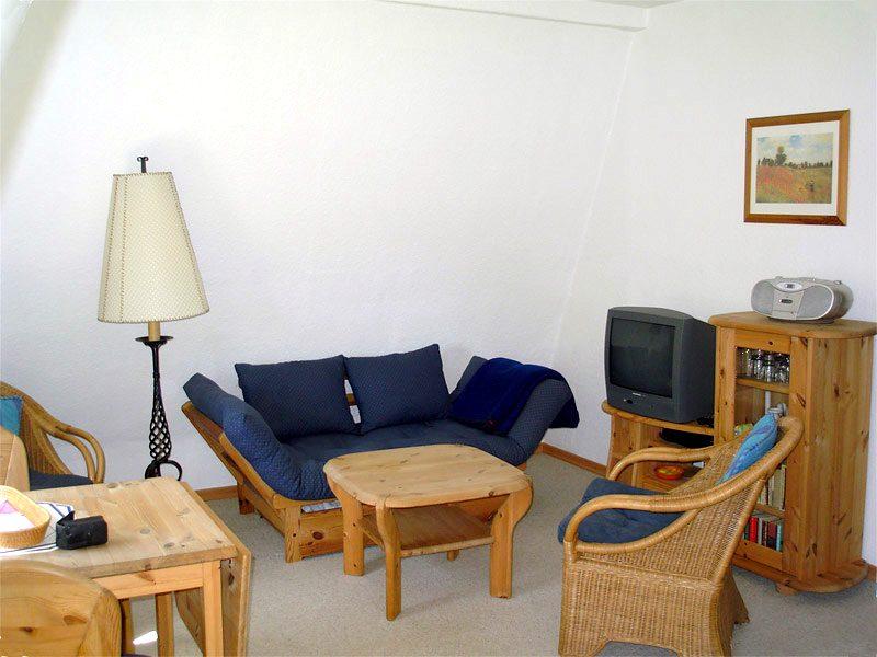Wohnzimmer der Ferienwohnung 4 - Landhaus Dittmann auf Hiddensee