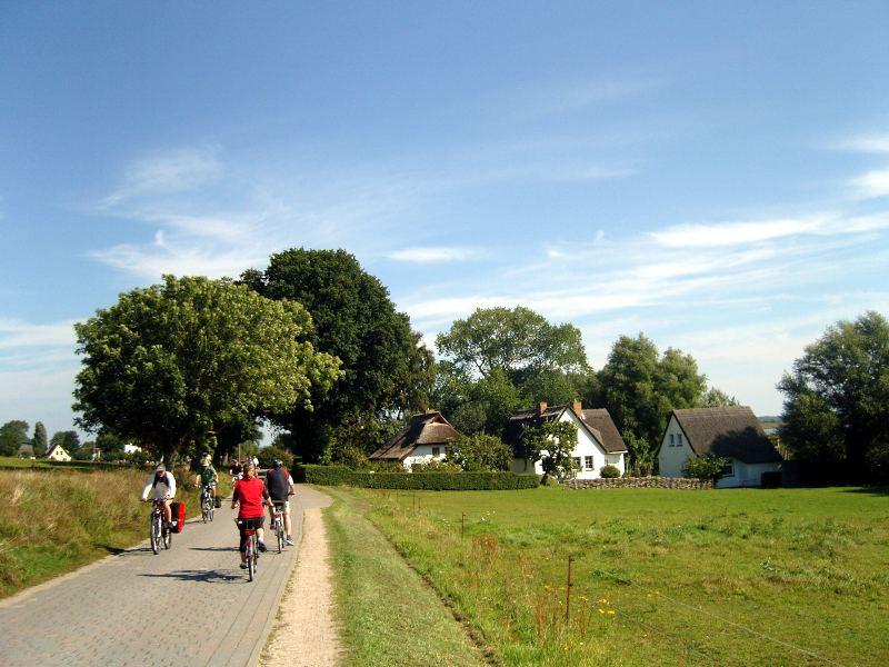 Radfahrer auf Hiddensee